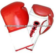 hombres venta caliente de cuero piel de vaca guantes de boxeo baratos
