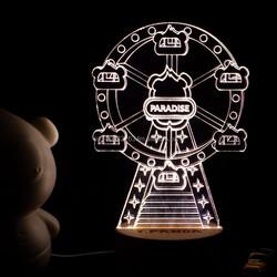T.Panda Ferris Wheel 3D LED Mood Light Night Light Table Lamp