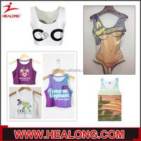 Healong Sublimated Printing Custom Take Down Breast Cancer Wrestling Singlet Girl