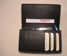 New Design Leather Credit Card Case With Mobile Phone Holder