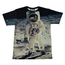Satellite Austronauts Sublimation printed T shirts/ Get own designs on 100% polyester or spun polyester t shirts sublimation