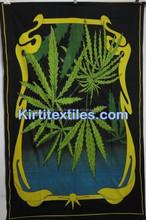 KTBS-97 New discounted indian leaf design Mandala handmade Hanging Beach Sheet Etchnic Decor Art Good Luck Elephant
