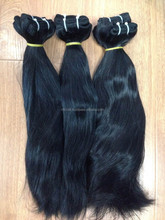 DOUBLE DRAWN WEFT HAIR WITH HIGH QUALITY 100% REMY HAIR BIG EXPORTER