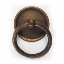 """Latón anillo tirones - ronda con gradas placa posterior ( pequeño ) 1-1 / 2 """""""