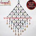 Forjado de hierro grande Cluster de campanas en forma de diamante de campanas de viento para el hogar