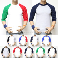 Canvas Long Sleeve Raglan Baseball T-Shirt