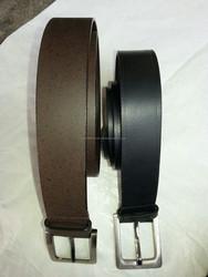 steel buckle leather belt