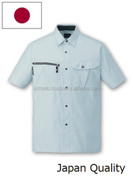 Quick dry fabric / Work shirts sleeve short ( Spring / Summer ). Made by Japan