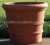 Terra cotta planters, painted terracotta pot, wash clay planter