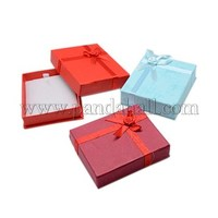 Valentines Day Presents Packages Cardboard Pendant Necklaces Boxes, Rectangle, Displaying Pendants, Mixed Color, 80x70x20mm