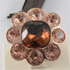 ROSE GOLD PLATED BRONZE REBECCA FLOWER RING PALM BEACH BPBARP02 MADE IN ITALY