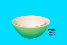 Set of 2 high quality bamboo bowl, bamboo salad bowl with new design 2015 (Skype: jendamy, whatsapp/viber: +84 914542499)