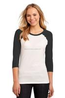 Stylish Fancy Optical Snow Gym Blank Raglan T shirt Wholesale Girls Blank Ruffle Sleeve T shirt