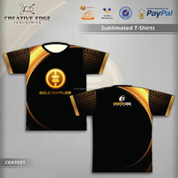 Gold Supplier Alibaba Sublimation T Shirt/Creative Design Sublimation T-Shirt/Sublimation O-Neck Tee Shirt With 100% Polyester