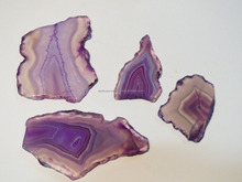 Lavender purple Agate Stone Slices loose gemstone