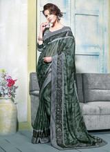 Saree heavy lacha lehenga style