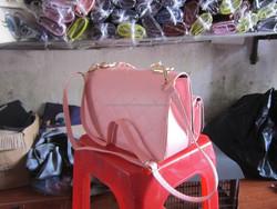 Light pink leather bag handbag for girl/ lady/ women