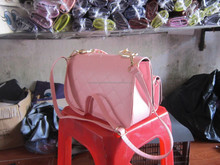 Light pink leather bag handbag for girl/ lady/ women