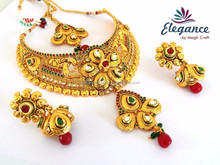 ONE GRAM GOLD BRIDAL NECKLACE SETS-SOUTH INDIAN BRIDAL JEWELRY 2015-WHOLESALE 1 GRAM GOLD BRIDAL JEWELLERY
