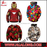 Healong Sublimated Snap On Cheap Hooded Sweatshirts Wholesale Pullover Hoodie