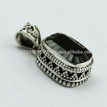 La mejor calidad!! Cuarzo ahumado joyería de plata esterlina, hecho a mano de plata joyería, india joyas de plata