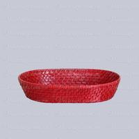 Nice cheap red wicker basket made in Vietnam