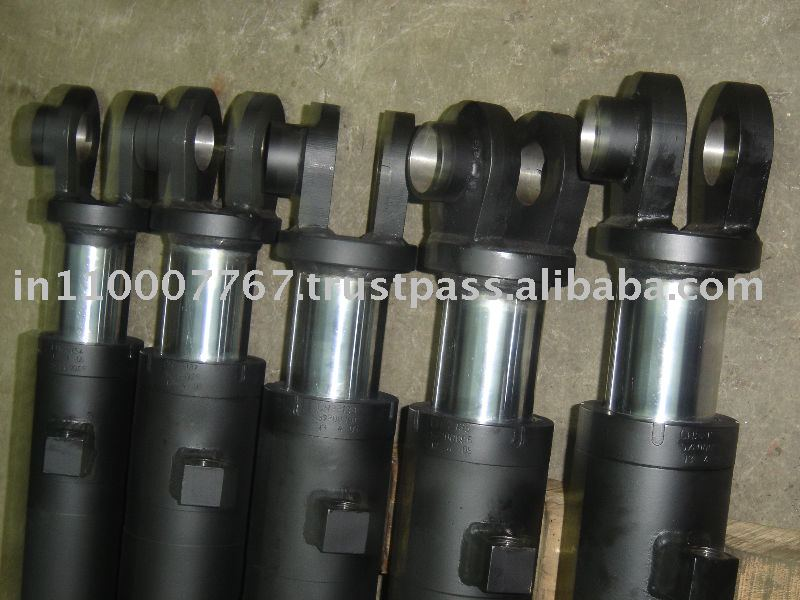 Weld Type Hydraulic Cylinders : Heavy duty welded and bolted type hydraulic cylinder