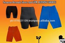 Neopreno bermudas gimnasio pantalones cortos y pantalone