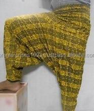 Alibaba Harem Hippie Alladdin Printed Mustard Unique Pattern Trouser / Harem pants manufacturer from Jaipur
