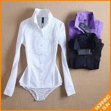 new style brand print sequins short & long sleeve slim conjoined bodysuit shirts for women