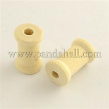 Carretéis para fios de madeira vazio rosca bobinas BurlyWood 27 x 17 mm furo : 6 mm WOOD-Q018-25