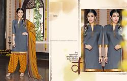cotton dress material / punjabi hand work salwar kameez / ladies punjabi suits design
