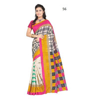 Daily wear indian sarees for women at wholesale price / latest bhagalpuri silk sarees