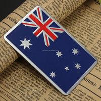 Audew Car Accessories Sticker Metal 3D Australian Flag Metal Car Badge Chrome Car Emblem All Wheel Drive Auto Sticker