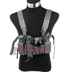 FG Grey D3 D-Mittsu Tactical Military Chest Rig Vest for Airsoft Paintball