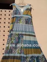 Ethnique coton imprimé Voile tissus en correctif impression longues robes femmes