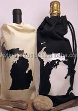 canvas promotion bottle bag