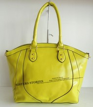 2015 OL office lady lemon yellow lady bags for all kinds grils