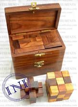 Burr Set , Wooden Burr Puzzle , Wooden Puzzle