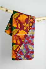 Handmade Ethnic Quilt Throw Vintage Kantha Reversible Bed Cover Decorative Indian bohemian King Size Quilt