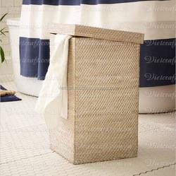 environmentally friendly square shape rattan basket bamboo folding fruit basket cheap rattan and bamboo basket for kitchen