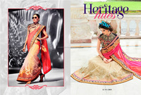 net sarees with net blouse designs