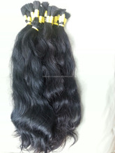 Complete human hair extension natural color no dye no chemical virgin hair