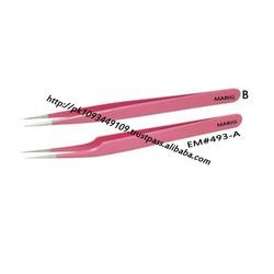 Eyelash Extension Tweezers Pink Colour 2 piece Set / Straight & Curved Eyelash Tweezers