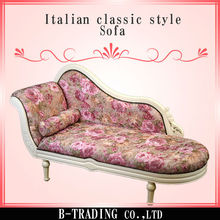 Italian classic style ball and claw feet couch sofa for living room