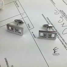 أزرار أكمام التيتانيوم الصلب مصنع متخصص ساحةm كم رجال الأعمال الرسالة مسمار الديكور جواهر
