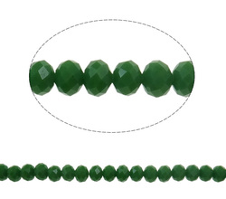 Fern Green Rondelle Crystal Beads