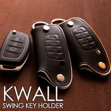 KWALL Smart Key Leather Key Holder (4 Buttons) for 2012-2015 Hyndai 5G Grandeur HG / Azera