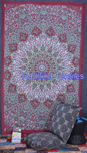 Hippie Mandala Block Printed Tapestry Wall Decor Throw Table Cover 100% Cotton Bedspread Indian Jaipur Manufacturer & Wholesaler