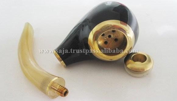 Buffalo horn tobacco pipe SHT-017.1.JPG
